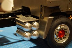 Air tanks V3 with mount tamiya frame 1/14 truck