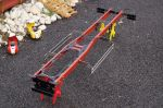 Steel chassis 6x4 long for tamiya 1/14 truck or other
