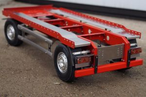 2x 1/14 scale drawbar trailer for hooklift containers