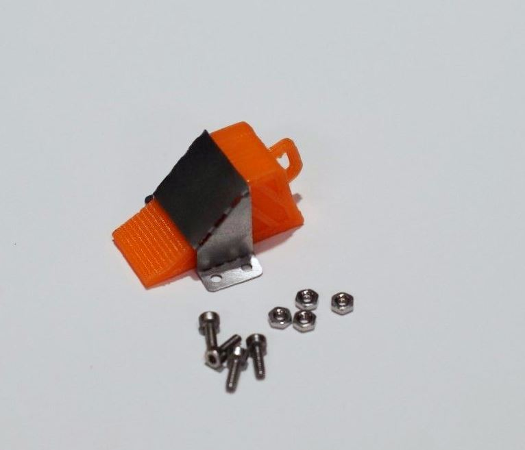 Wheel stopper with mount for 1/14 truck