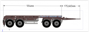1/14 scale Trailer 4axles v2 for Tamiya and others