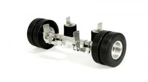 1/14 Complete air suspension with aluminium rims and rubber tires for 1/14 trailers