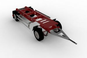 Trailer 2axles v2 for Tamiya and others